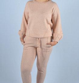 Soft cosy homewear SET broek en trui pink