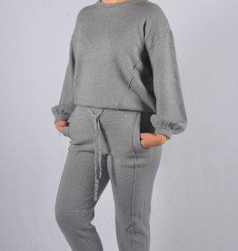 Soft cosy homewear SET broek en trui grey