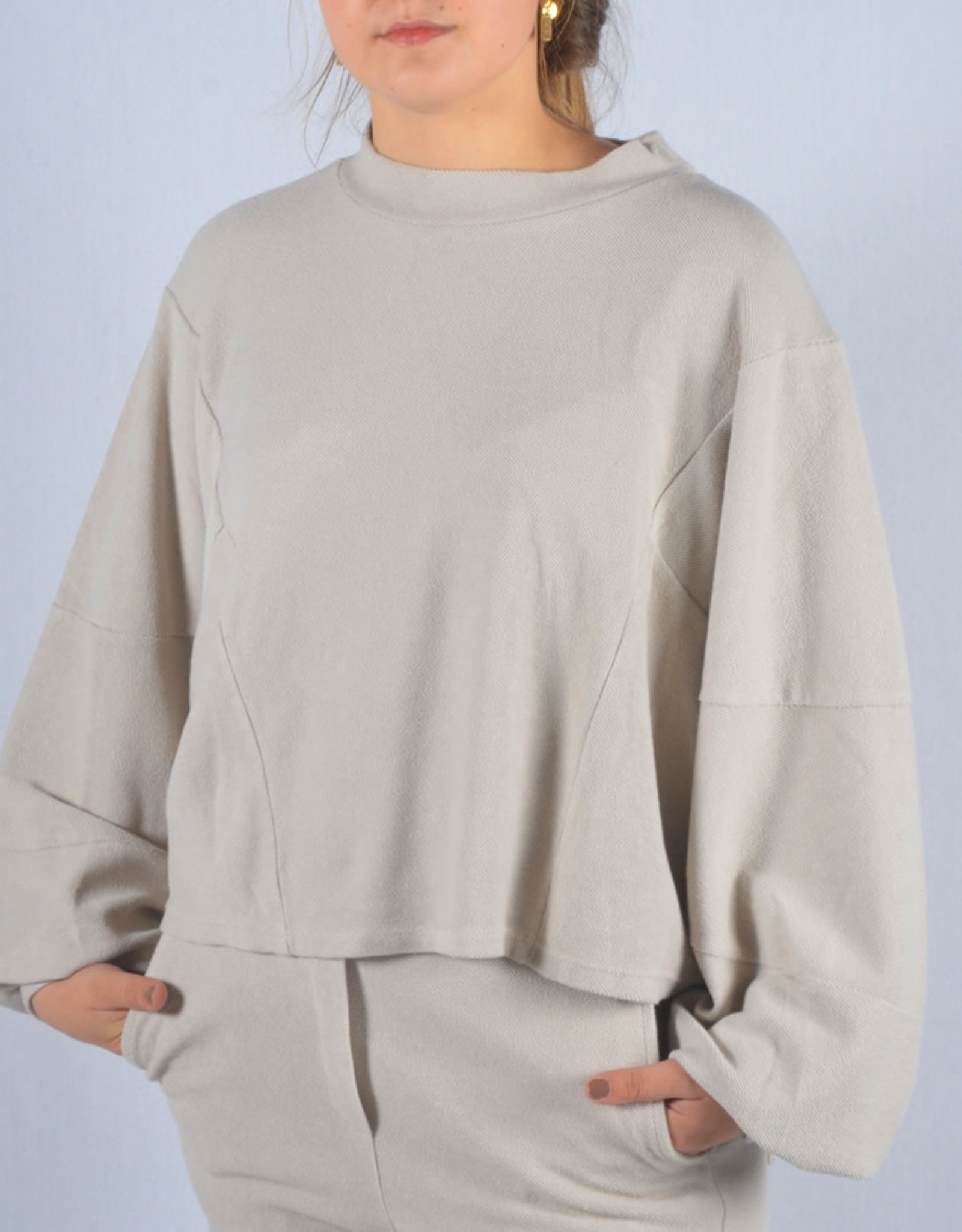 Homewear washed nude one size SET sweater & pants