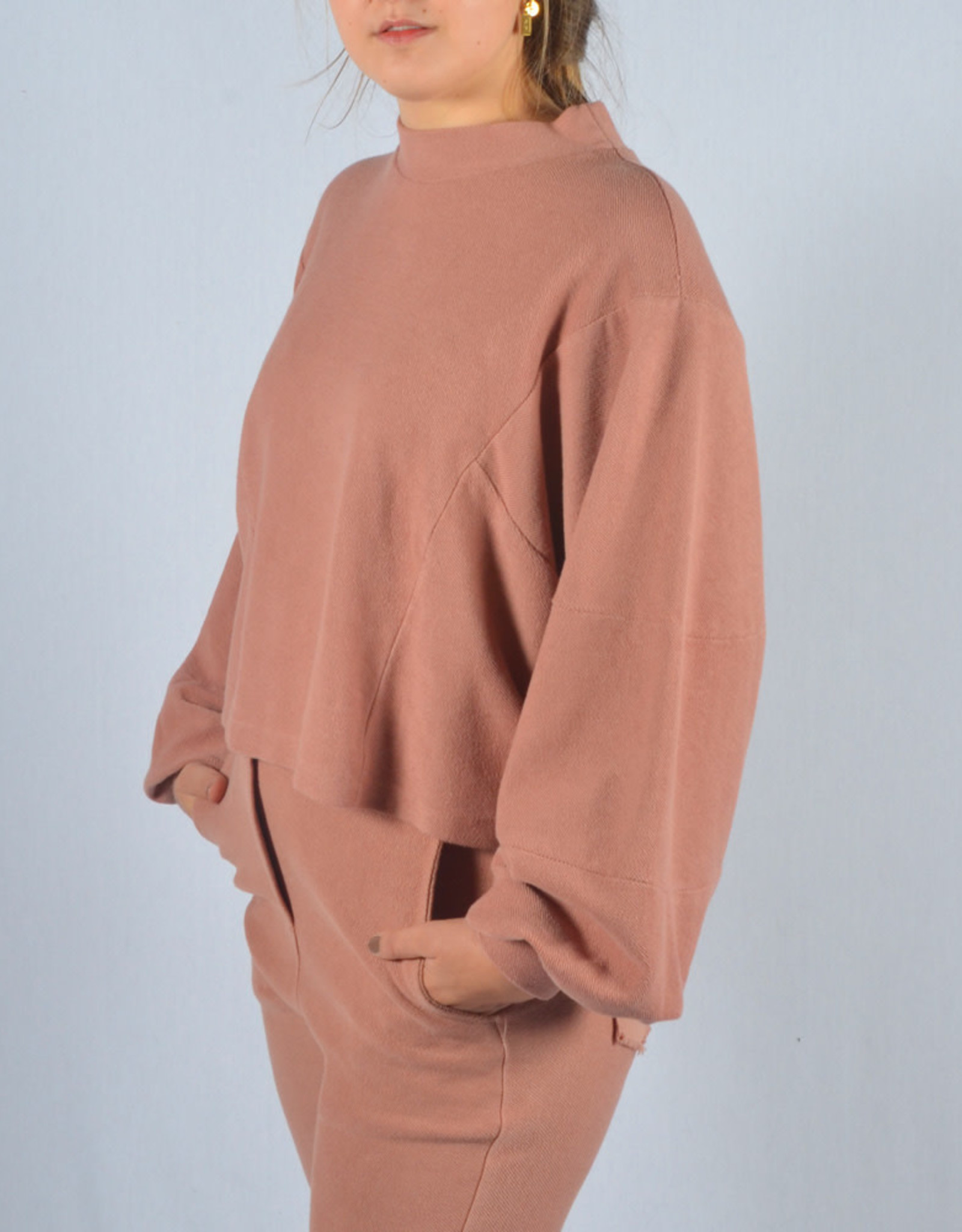 Homewear washed pink one size SET sweater & pants