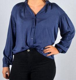 Blue blouse boho