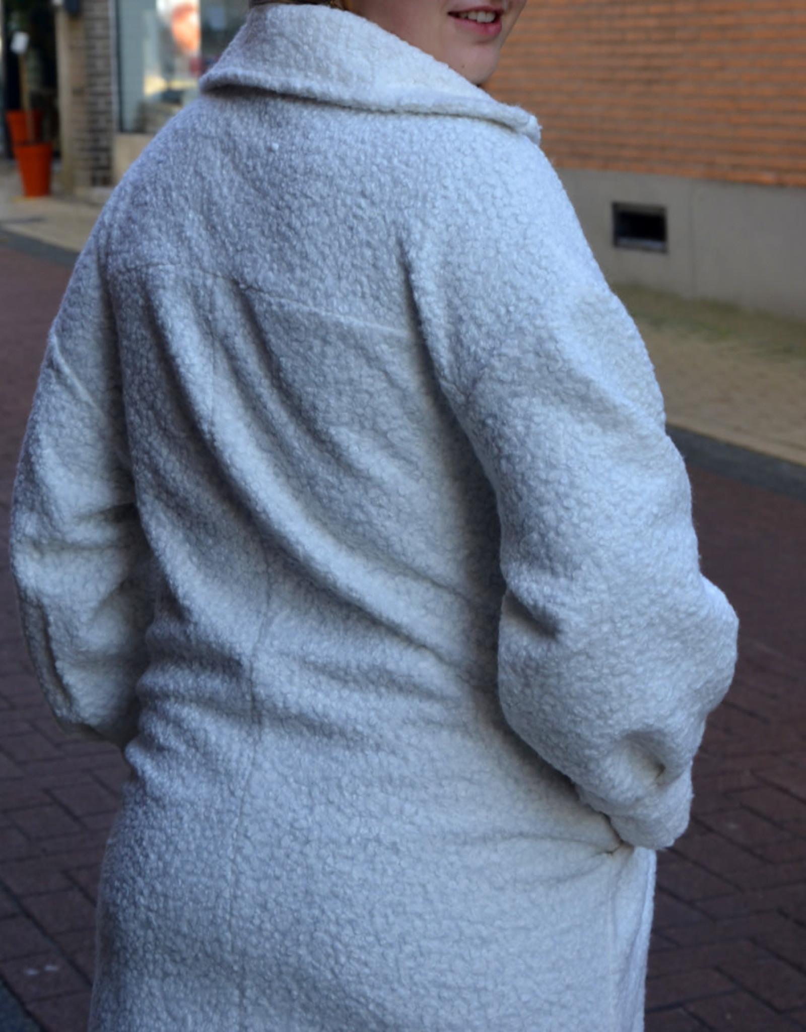 Vest teddy white one size