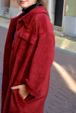 Soft long jacket red one size
