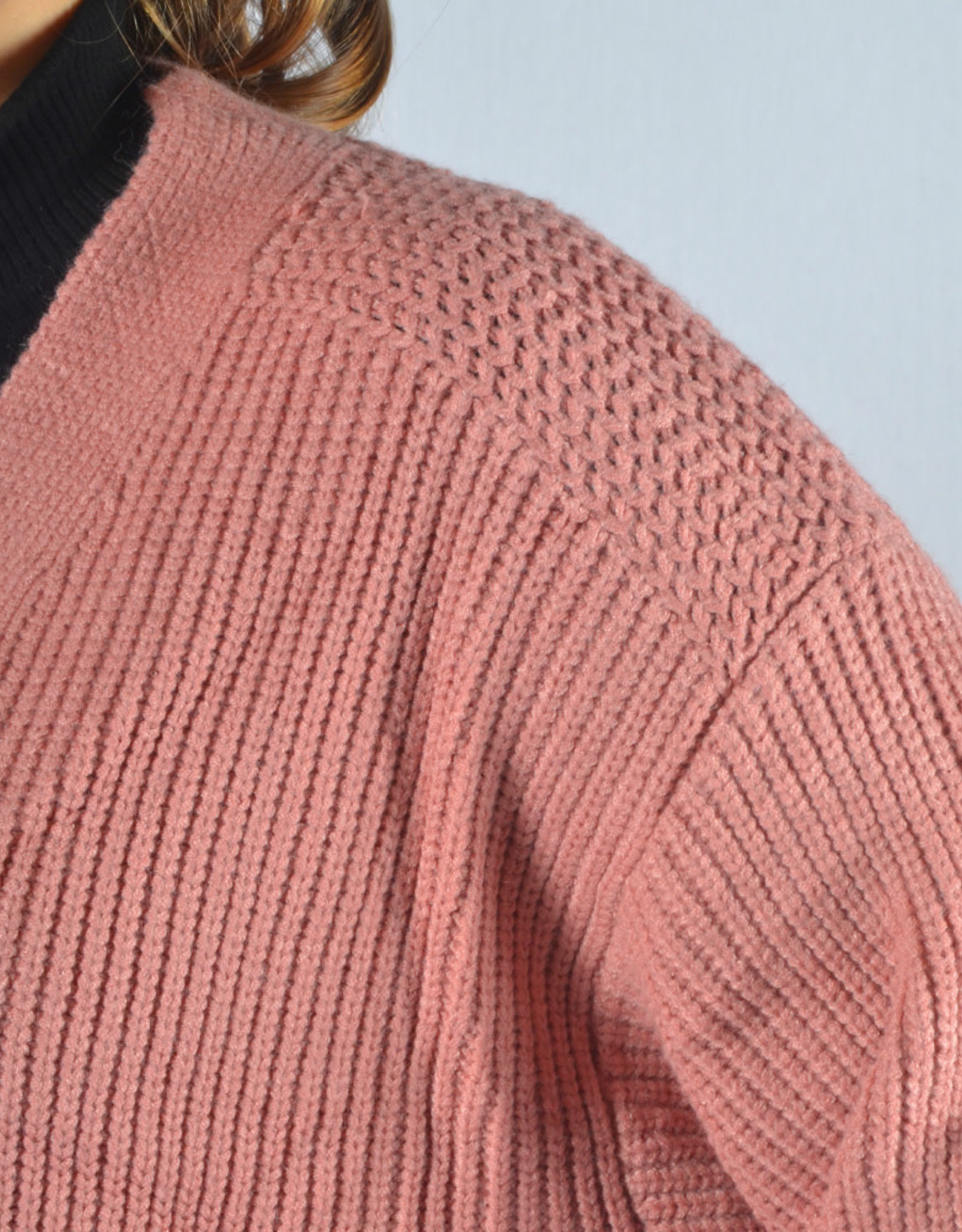 Leila long gilet  pink one size