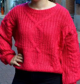Fuchsia knit