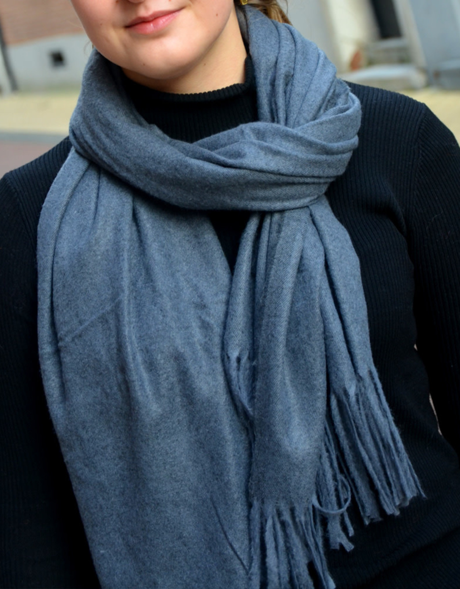 Scarf fall jeans