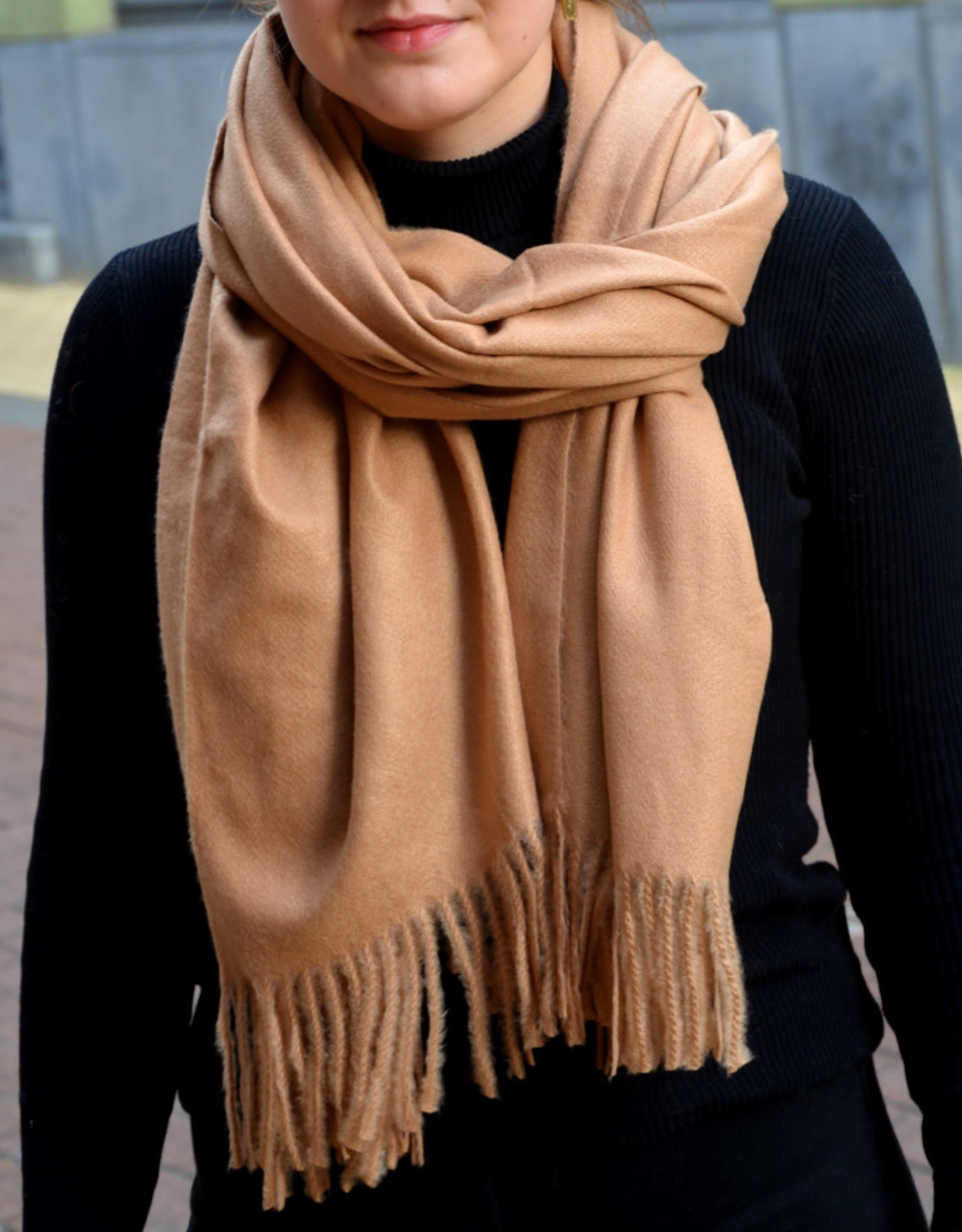 Scarf fall light brown