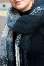 Scarf winter carreaux black