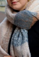 Scarf winter carreaux nude