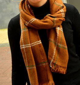 Scarf carreaux brown