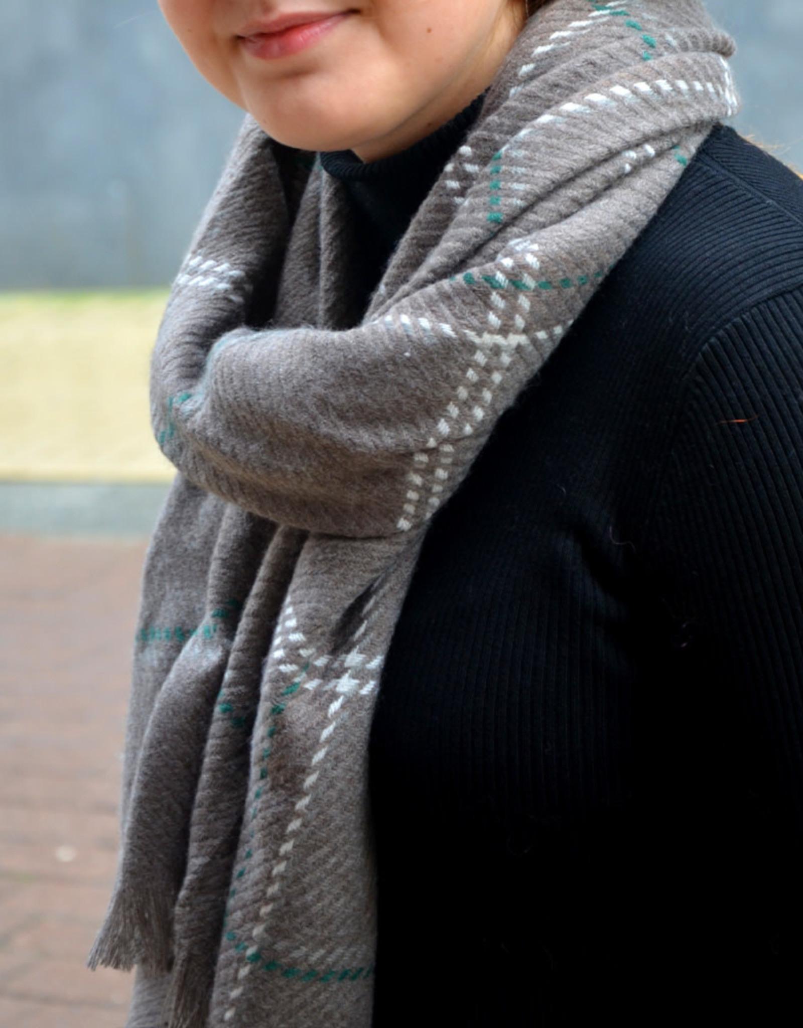 Scarf carreaux grey