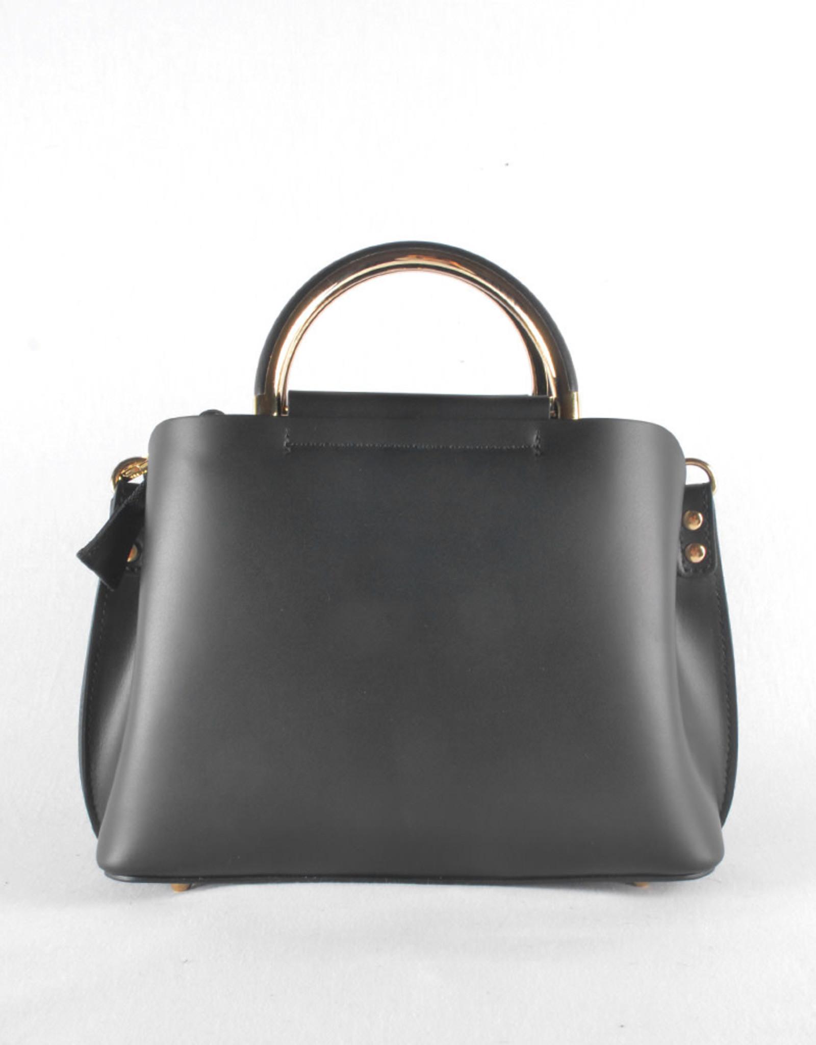 Square gold black bag