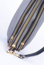Handtas double zipper  black