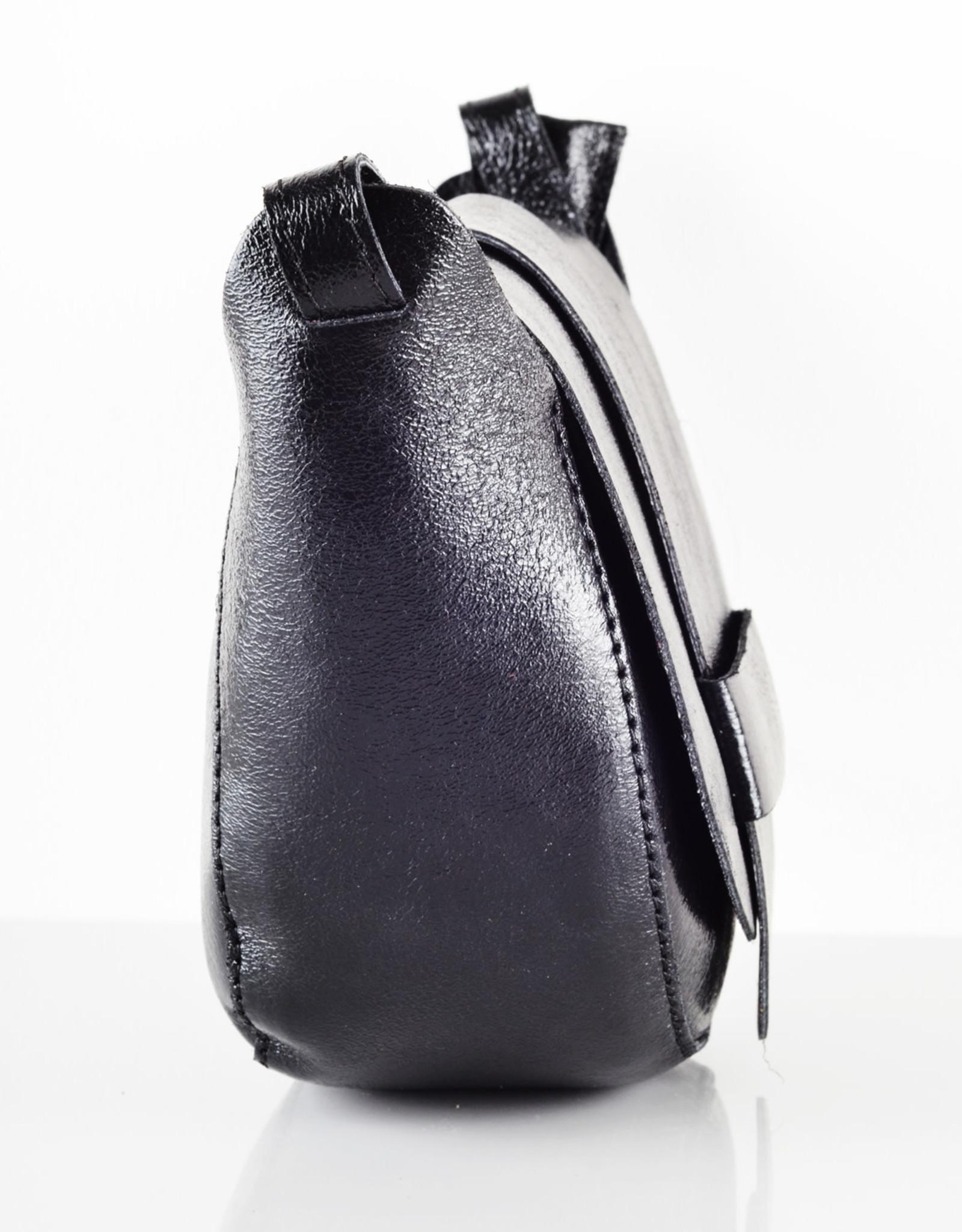 Compact redondo bag black sparkle