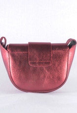 Compact redondo bag red sparkle