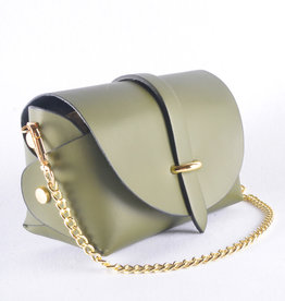 Mini bag gold kaki