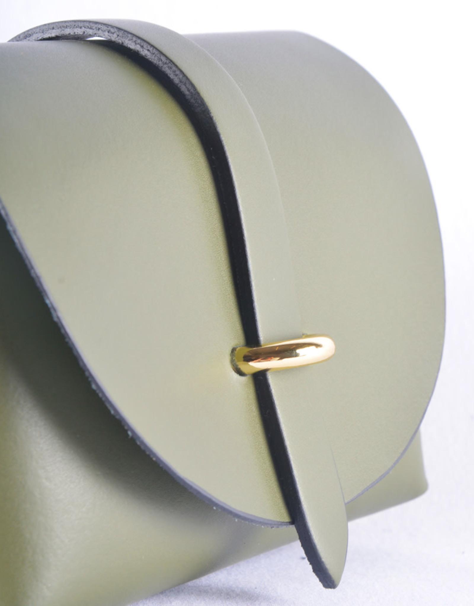Mini bag gold kaki