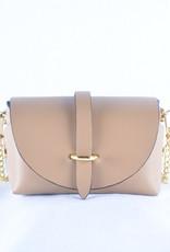 Mini bag gold taupe