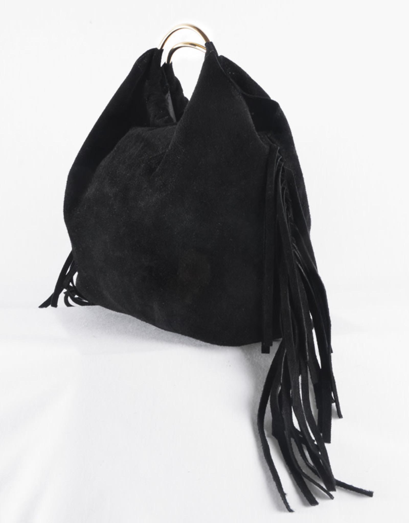 Boho golden handle bag