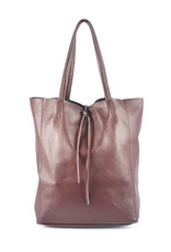 shopper met lintje burgundy