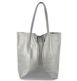 Shopper met lintje grey
