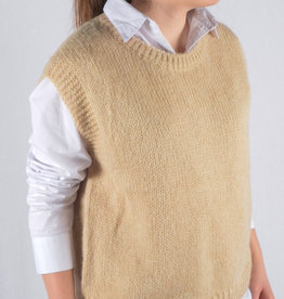 Debardeur knitted  beige one size