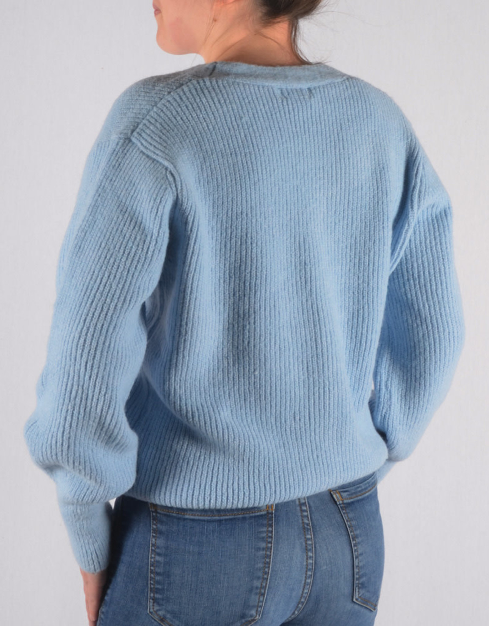 Pastel gilet  baby blue one size