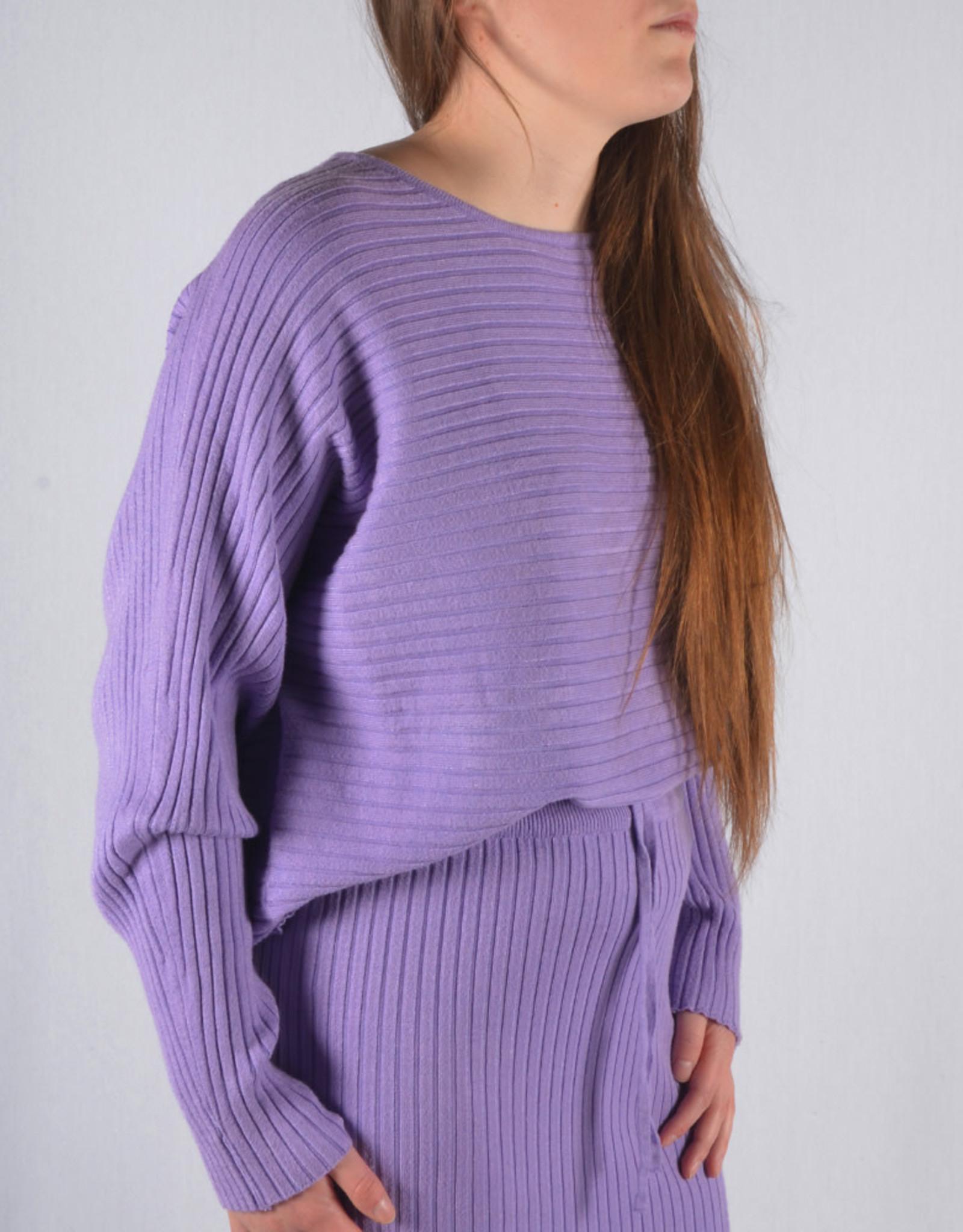 Rib homewear SET skirt & sweater lila one size