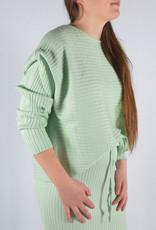 Rib homewear SET skirt & sweater spring green one size