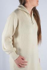 Beige sweater dress