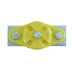 Eindklem c-rail 32/ 40 mm geel