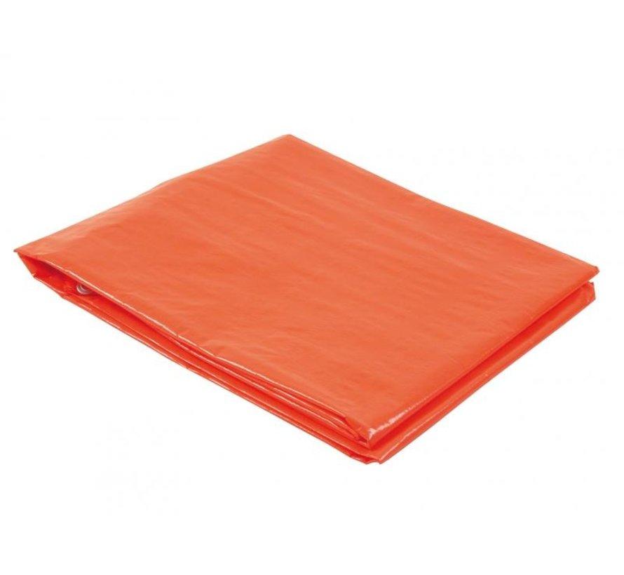 Afdekzeil polyethyleen 6x8m oranje