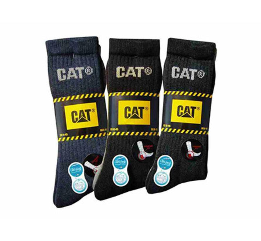 CAT sokken Outdoor zwart/grijs maat 41-45 bundel 3 paar