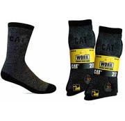 Cat CAT sokken Thermo zwart/grijs maat 46-50 bundel 2 paar