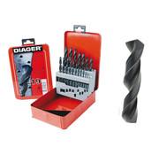 Diager Diager 19-delige Staalboorset HSS Standaard in metalen doos inhoud: Ø1-1.5-2-2.5-3-3.5-4-4.5-5-5.5-6-6.5-7-7.5-8-8.5-9-9.5-10