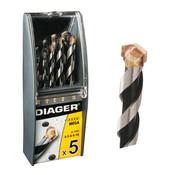 Diager Diager 5-delige Steenboorset Mega in kunststof doos inhoud: Ø4-5-6-8-10