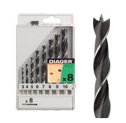 Diager Diager 8-delige Houtboorset Standaard in kunststof doos inhoud: Ø3-4-5-6-7-8-9-10