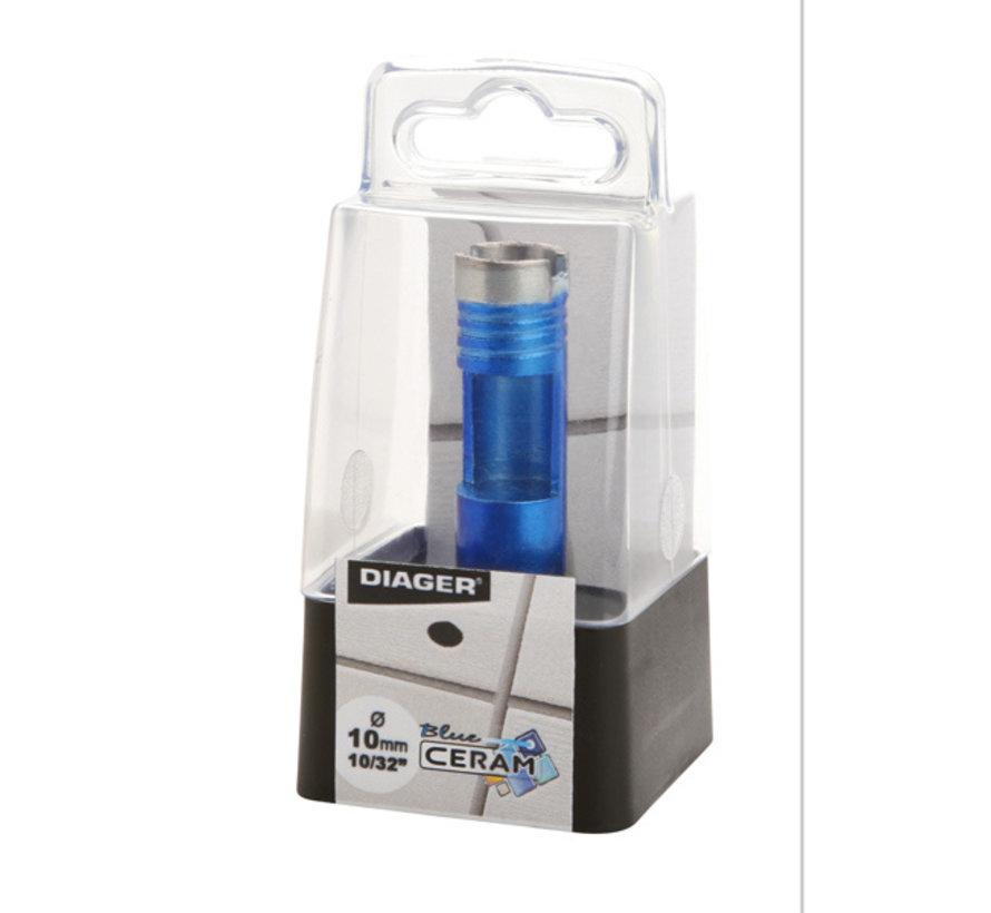 Diager Blue-Ceram Diamant Tegelboorset in kunststof doos inhoud: 2xØ6mm, 2xØ8mm inclusief koppelstuk voor haakse slijper en slijpsteen