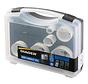 Diager Gatenzaagset BI-Metaal in kunststof koffer inhoud: Ø22-35-51-57-68-76mm inclusief 2 adapters met centreerboren