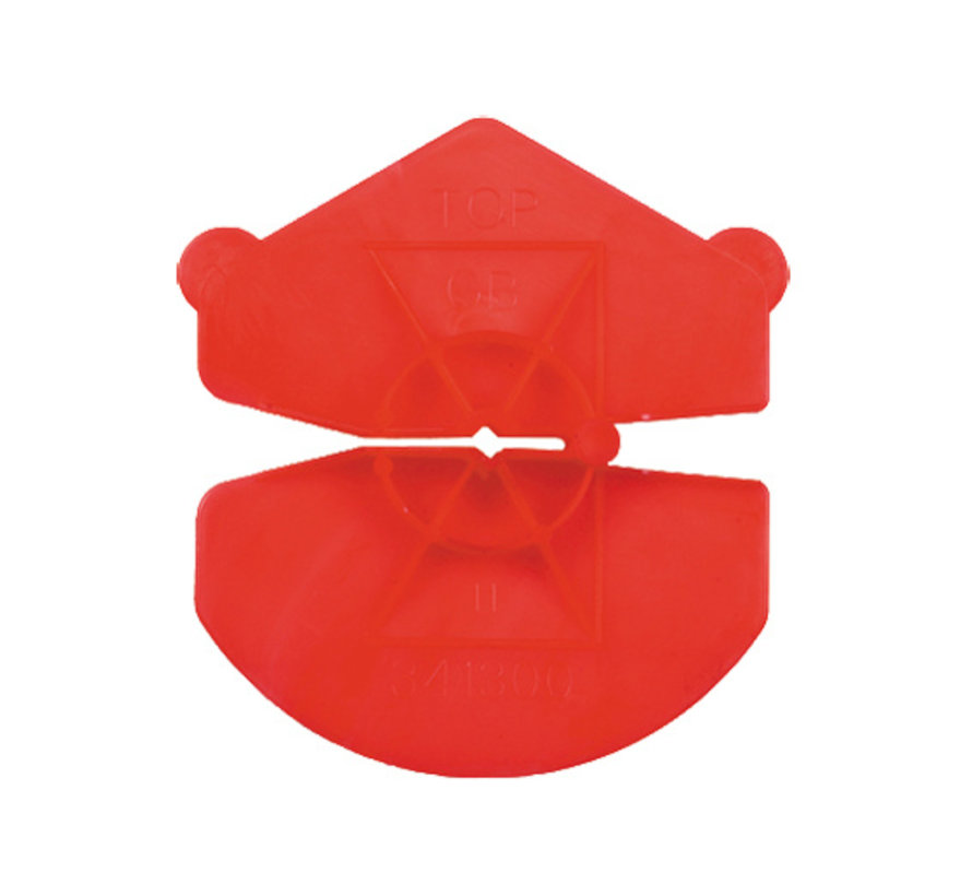 GB UNI-clip rood voor spouwankers 3,2-4,5mm 1000 stuks