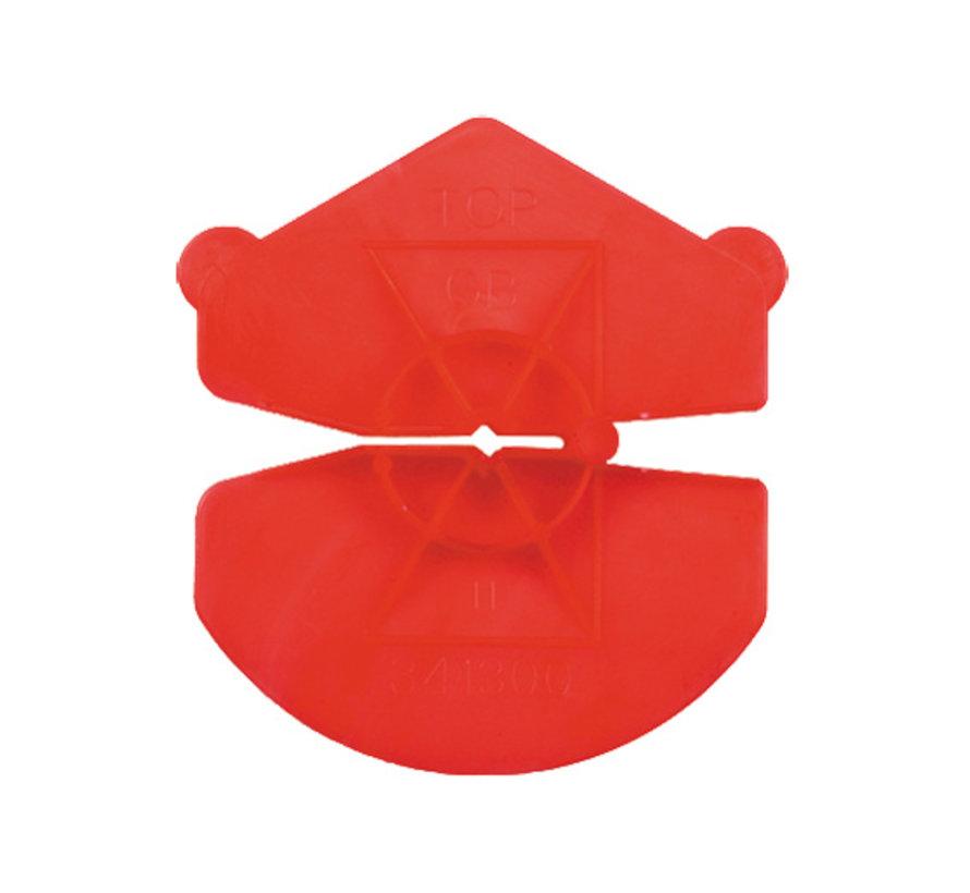 GB UNI-clip rood voor spouwankers 3,2-4,5mm 200 stuks