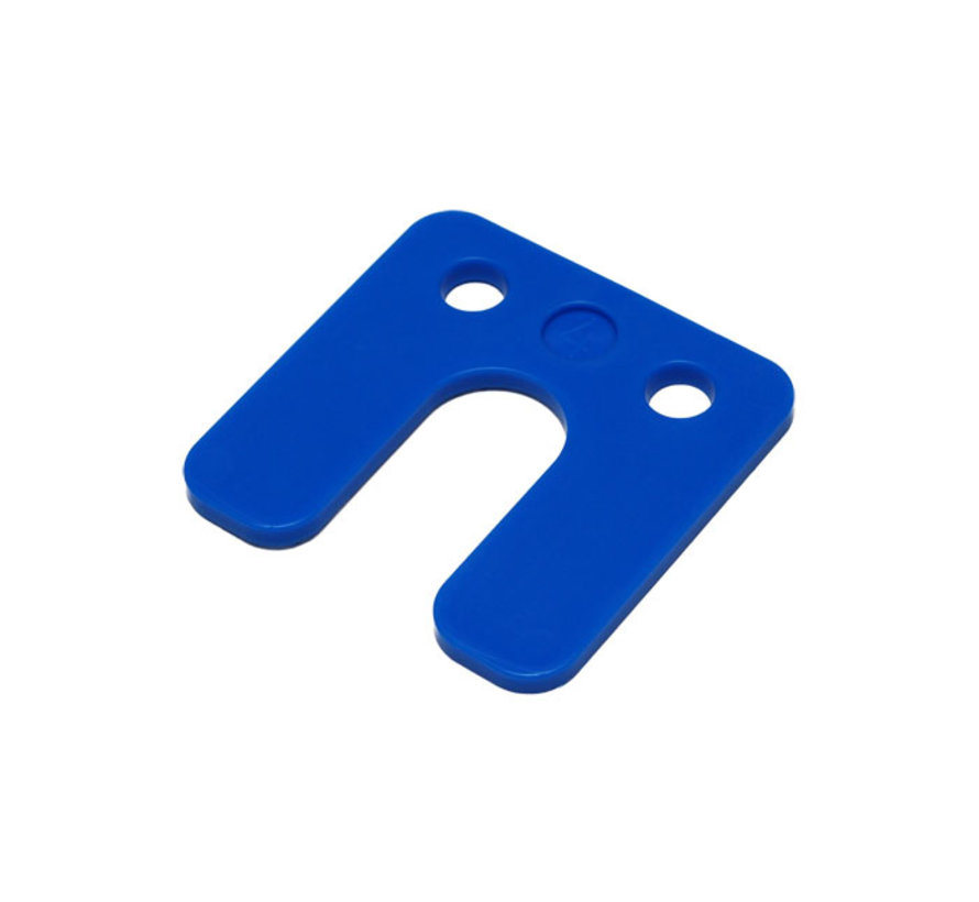 GB kunststof drukplaat 4 mm met sleuf blauw 48 stuks