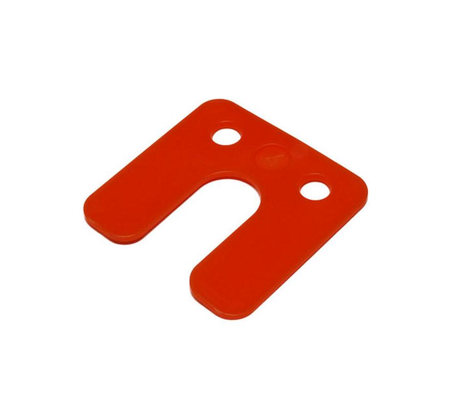 GB kunststof drukplaat 2 mm met sleuf oranje 48 stuks
