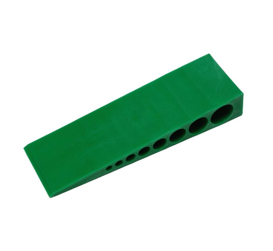 GB kunststof stelwig 150x45x25mm groen 25 stuks
