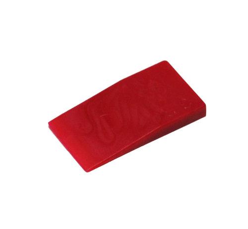 GB GB kunststof stelwig 40x23x5mm rood 450 stuks