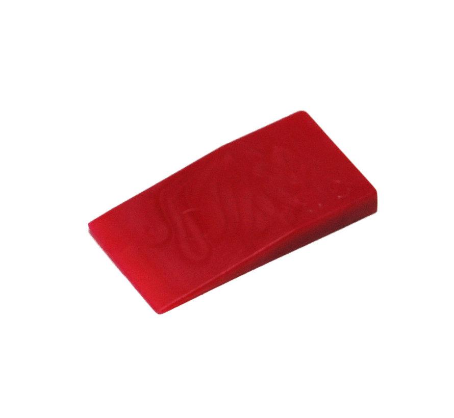 GB kunststof stelwig 40x23x5mm rood 450 stuks
