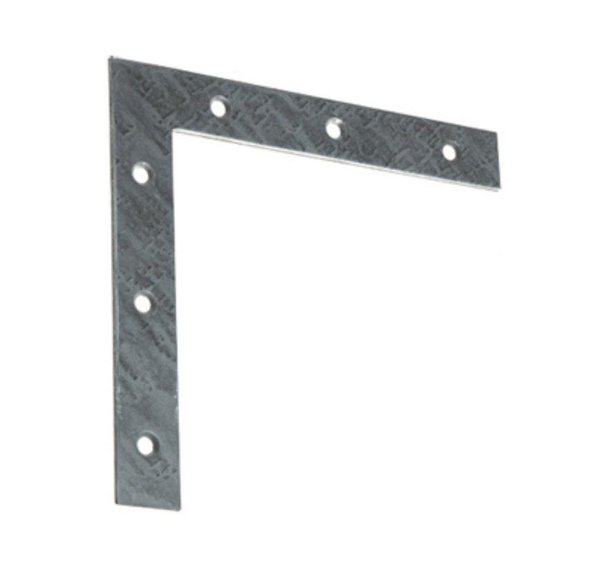 GB raamhoek recht 60x60 / 10x1.5 mm gegalvaniseerd