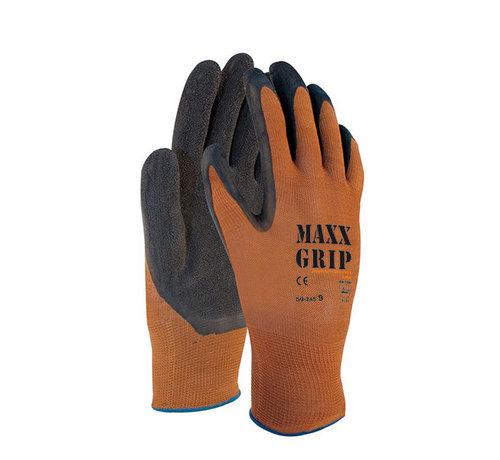 Handschoen Maxx-Grip Lite 50-245 bruin palm is gecoat met zwarte latex maat 9 / L