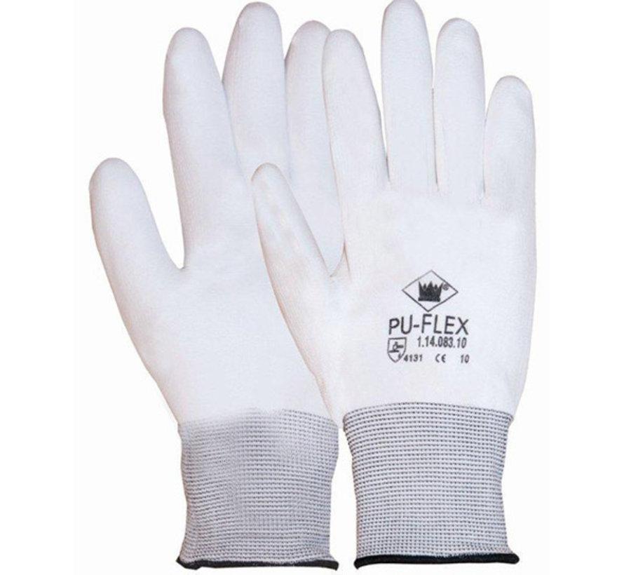 Handschoen PU-flex nylon wit categorie 2 maat 10 / XL