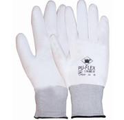 Handschoen PU-flex nylon wit categorie 2 maat 9 / L